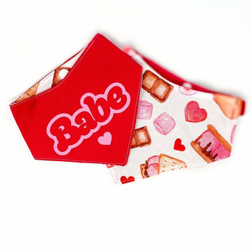 Reversible Bandana -BABE - S'mores Valentine - Coco and Chili's Shop