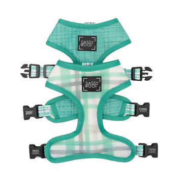Reversible Harness - Wag Your Teal - Coco and Chili's Shop