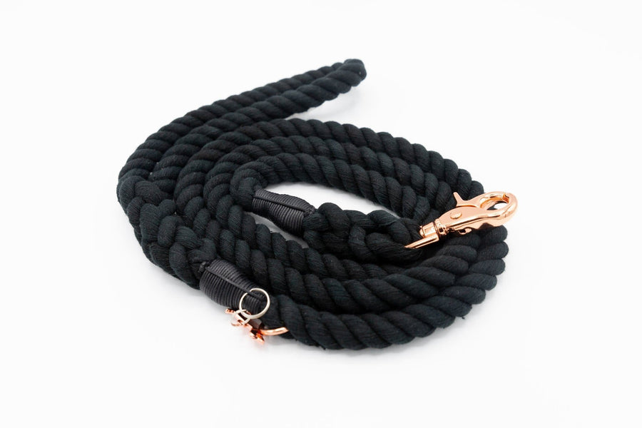Rope Leash - Noir - Coco and Chili's Shop