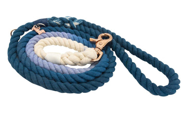 Rope Leash - Ombre Blue - Coco and Chili's Shop