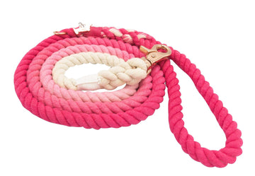 Rope Leash - Ombre Pink - Coco and Chili's Shop