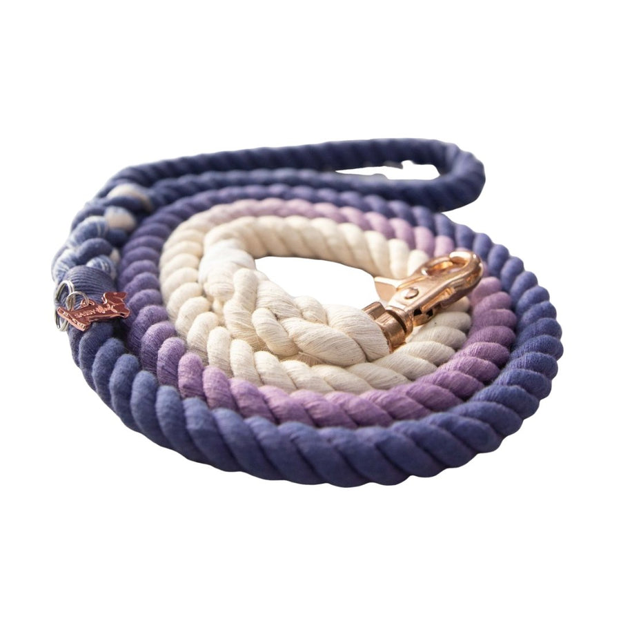 Rope Leash - Ombre Purple - Coco and Chili's Shop