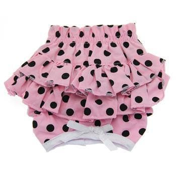 Ruffled Pink and Black Polka Dot Dog Panties - Coco and Chili's Shop