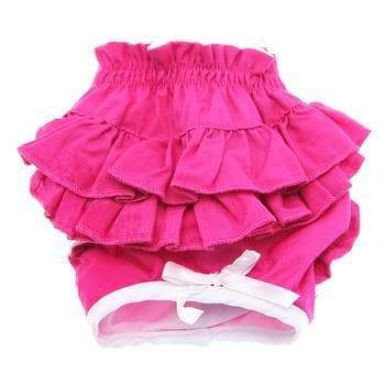 Ruffled Solid Pink Dog Panties - Coco and Chili's Shop