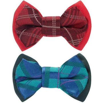 Scottish Tartan Style Bow Tie Set - Coco and Chili's Shop