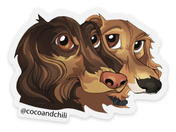 Sticker of Coco and Chili, Toon Version, 3