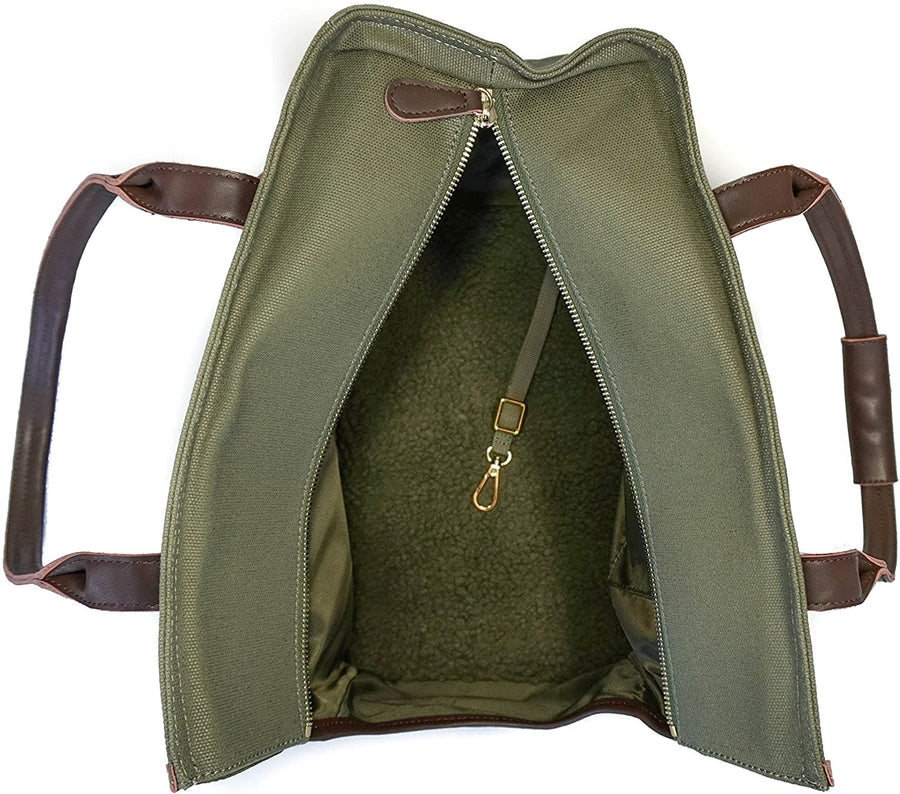 The Django Pet Tote - Olive Green - Coco and Chili's Shop