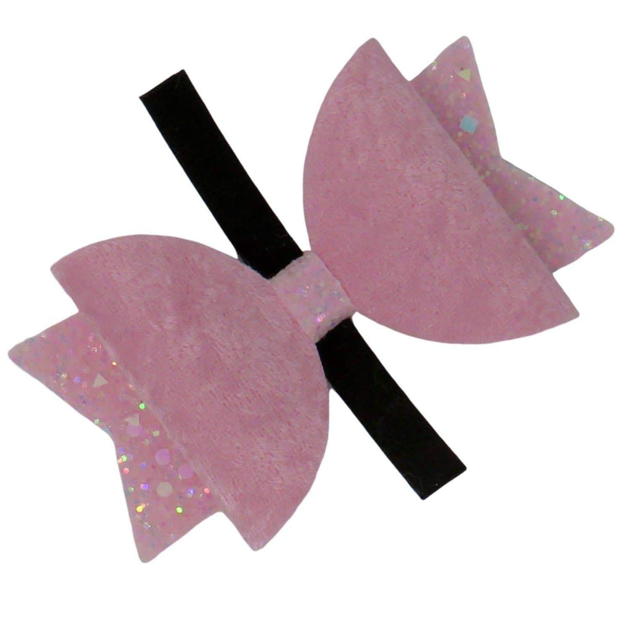 Velvet Bow With Glitter Wings - Coco and Chili's Shop