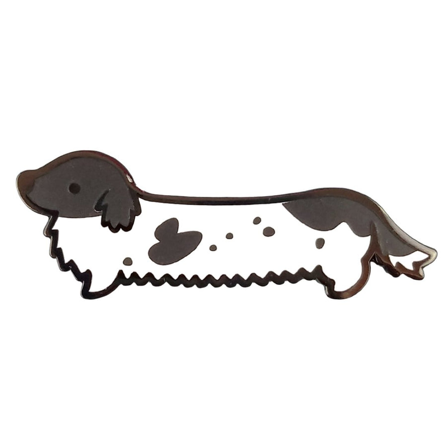 Weenie Dog Pin - Long Coat Piebald - Coco and Chili's Shop