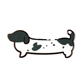 Weenie Dog Pin - Short Coat Piebald - Coco and Chili's Shop