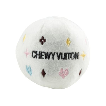 White Chewy Vuiton Ball - Coco and Chili's Shop