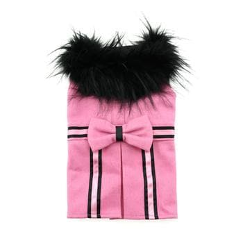 Wool Fur-Trimmed Dog Coat - Pink - Coco and Chili's Shop