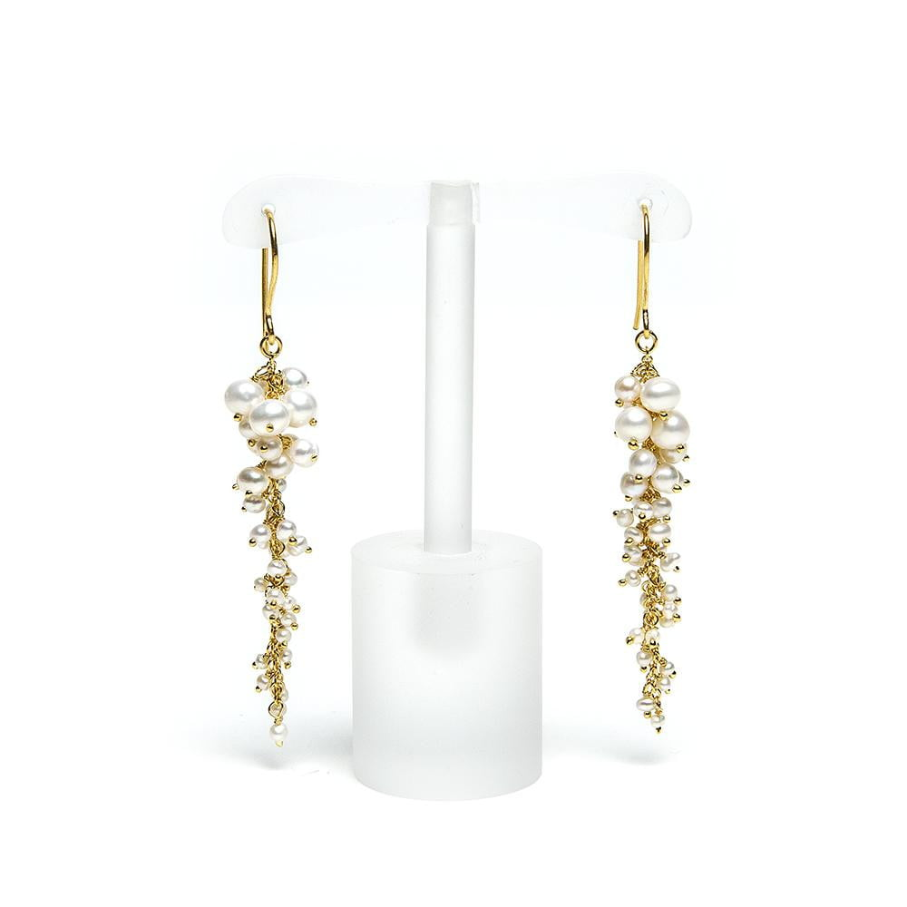 Long Graduated Freshwater Pearl Earrings | Lily Gardner