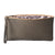 13th Wedding Anniversary Bronze Spot Print Leather Clutch