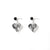 8th wedding anniversary black lace heart earrings | Lily Gardner London