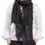 Black Sequin Floral Wool Scarf