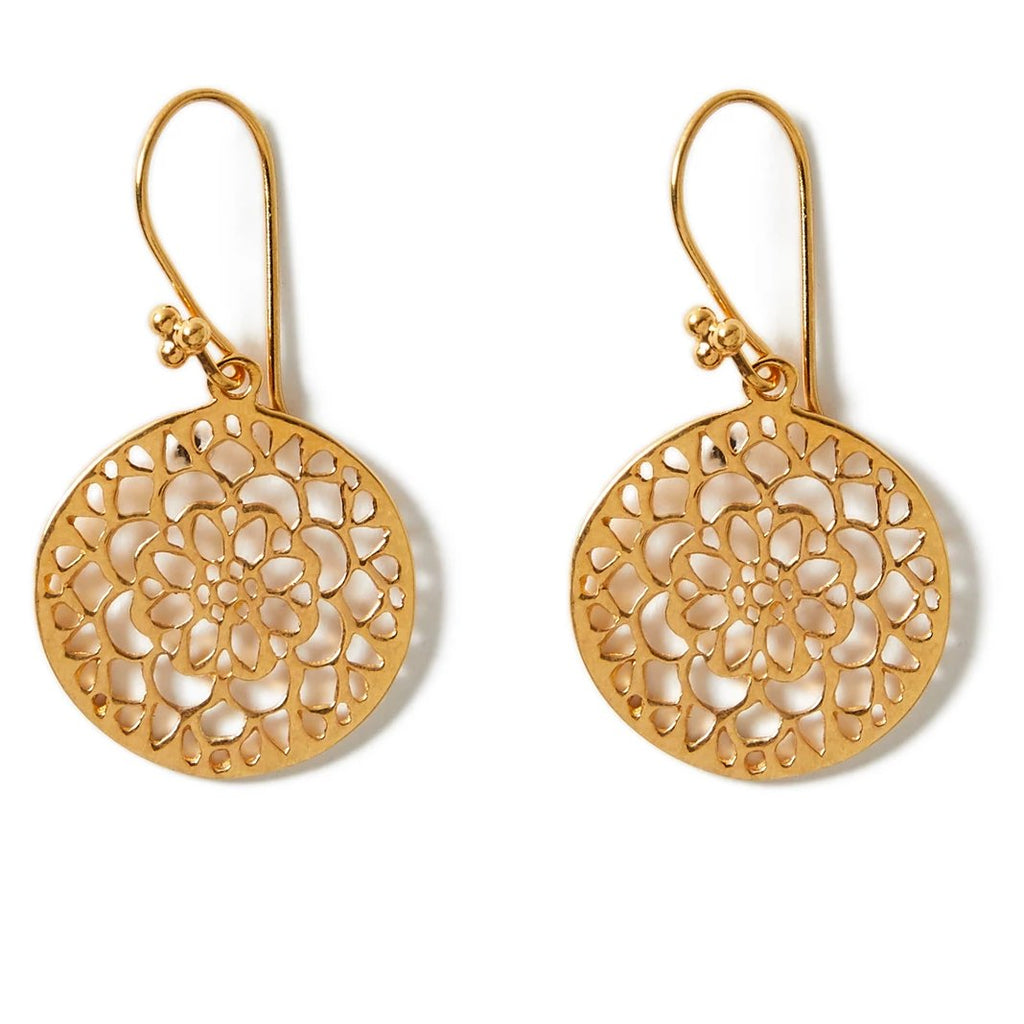 Gold Cutwork Earrings | Lily Gardner