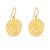 Large Round Matt Gold Filigree Earrings | Lily Gardner