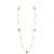 1st Wedding Anniversary Gold Multi Stone Long Necklace | Lily Gardner