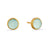 Cupcake  Aqua Chalcedony Stud Earrings | Lily Gardner