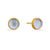 1st Wedding Anniversary Gold & Iolite Stud Earrings | Lily Gardner