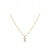 1st Wedding Anniversary Gold  Crystal Quartz Parcel Necklace | Lily Gardner