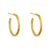 Matt Gold Semi-Hoop Earrings|Lily Gardner