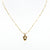 1st Wedding Anniversary Gold Acorn Pendant on Chain Necklace