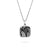 Square Lace Silver Pendant Necklace - Medium