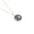 round lace in silver pendant -small - on chain | Lily Gardner London