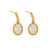 50th Wedding Anniversary Opal Gold Earrings