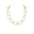 1st Wedding Anniversary Textured Gold Short Chain Necklace | Lily Gardner London