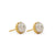 3rd Wedding Anniversary Large Pearl Gold Studs