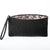 Floral Black Leather Lace Print Lined Clutch for 13th Wedding Anniversary| Lily Gardner