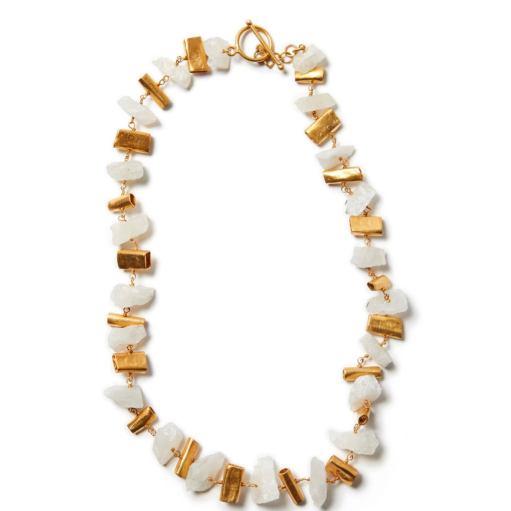 Raw Quartz and Gold Necklace | Lily Gardner