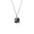 Square Lace and Silver Pendant Necklace - Small
