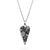 8th Wedding Anniversary Lace and Silver Wild Heart Pendant Necklace - Small