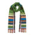 Wallace Sewell Green multi colour strip scarf | Lily Gardner
