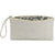 Ivory leather clutch bag open |Lily Gardner London
