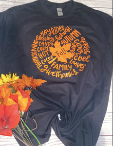 Fall Leaf Words Tee