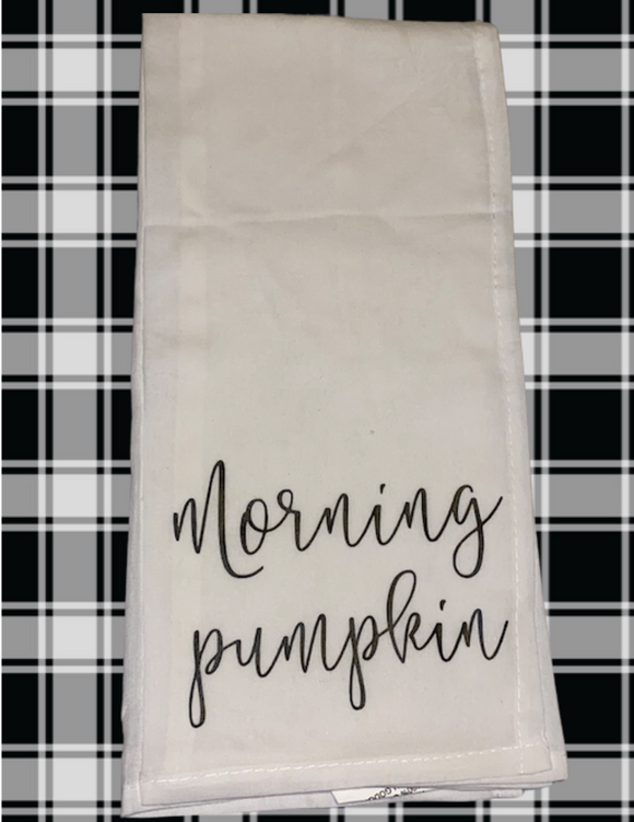 Morning Pumpkin Dishtowel