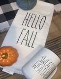 Hello Fall Dish Towel