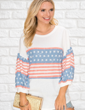 All American Three Quarter Sleeve Top