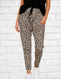 Stuck With You Skinny Leopard Print Pants (Khaki)