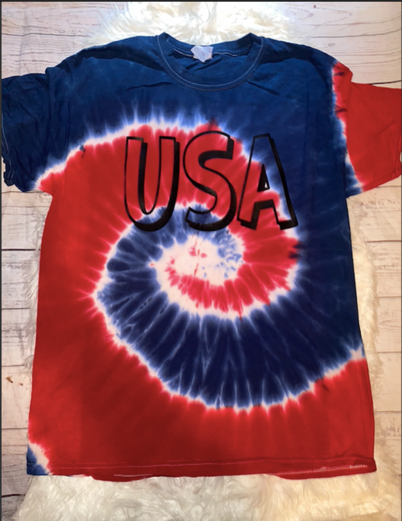 Born In The USA Tie Dye Tee