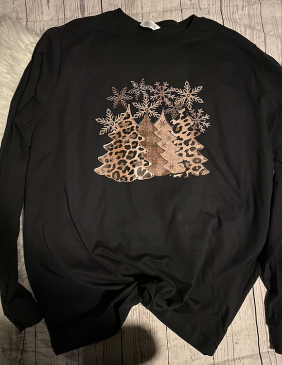 Gold and Leopard Christmas Tree Shirt