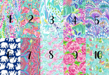 Lilly Inspired Comfort Colors Pocket Monogram