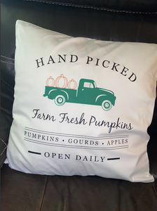 Hand Picked Pumpkins Pillow