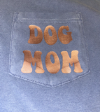 Retro Dog Mom Comfort Colors Pocket Tee