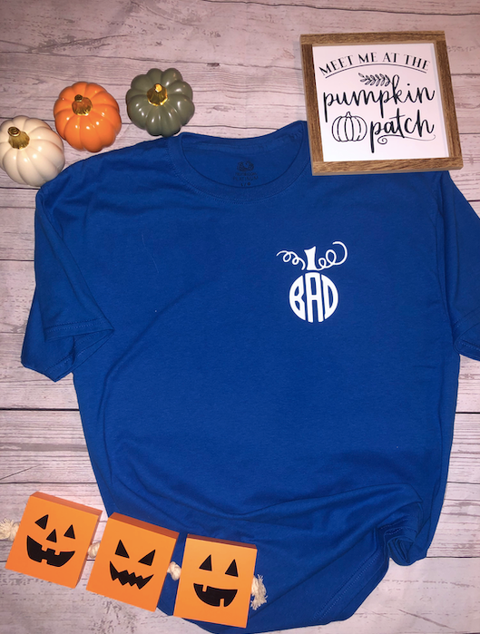 SALE! Pumpkin Monogram Tee